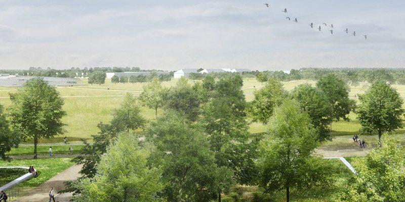 Luftaufnahme vom BUGA-Gelände.