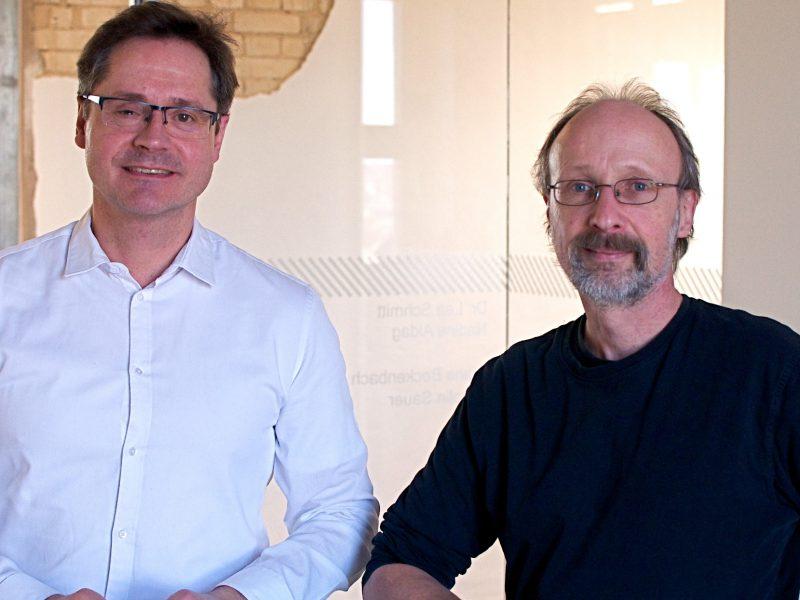 Bild Ralf Eisenhauer (MWS Projektgesellschaft (li.)) und Gralef Breuer (Umweltplanung Bullermann Schneble GmbH)